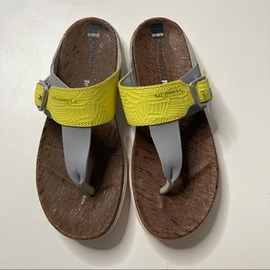 Merrell Leather Strap 7 Flip Flops Sandals